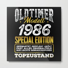 Classic car modell 1986 Metal Print