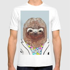 1980's Sloth White Mens Fitted Tee MEDIUM