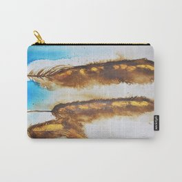 Three Vintage Feathers 2 Carry-All Pouch