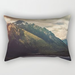 Mountain in the Lake Patagonia Argentina Landscape Rectangular Pillow