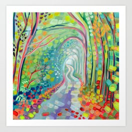 Deep in the magic forest Art Print