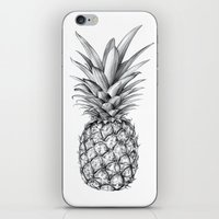 pineapple iPhone & iPod Skins featuring Pineapple by Sibling & Co.