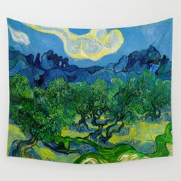 Olive Trees by Vincent Van Gogh Oil Painting Wall Tapestry