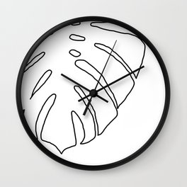 philodendron sketch Wall Clock
