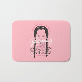 Wednesday Addams Eyes Bath Mat