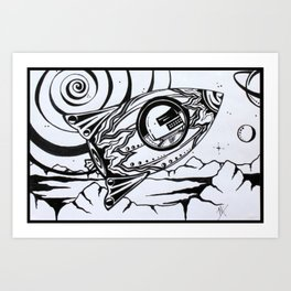 Rocket Man Art Print