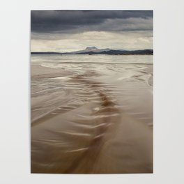 Beach and Mountains Poster