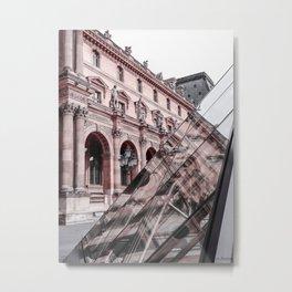 Paris In Pink Metal Print