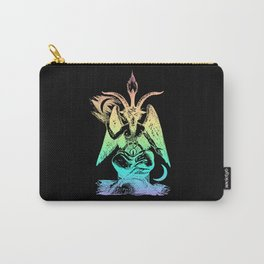 Pastel Rainbow Baphomet Carry-All Pouch