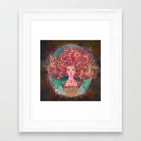 medusa Framed Art Prints featuring Medusa by Kindra Haugen