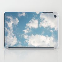 clouds iPad Cases featuring Clouds by Rebekah Joan