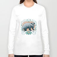 badger Long Sleeve T-shirts featuring Badger by Monkah