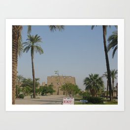 Temple of Karnak at Egypt, no. 2 Art Print