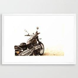 Black Steel Framed Art Print