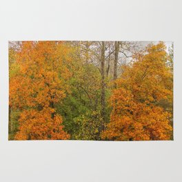 Leaning Into Autumn Rug