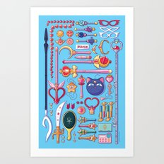 Magical Arsenal Blue Art Print
