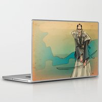 samurai Laptop & iPad Skins featuring Samurai by David Finley