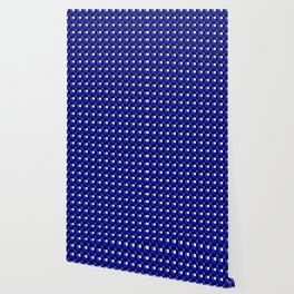 Sapphire Sea Blocks, Checkered Pattern - Blue Wallpaper