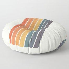 Arida -  70s Summer Style Retro Stripes Floor Pillow