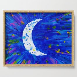 Glitter Crescent Moon Phase Serving Tray