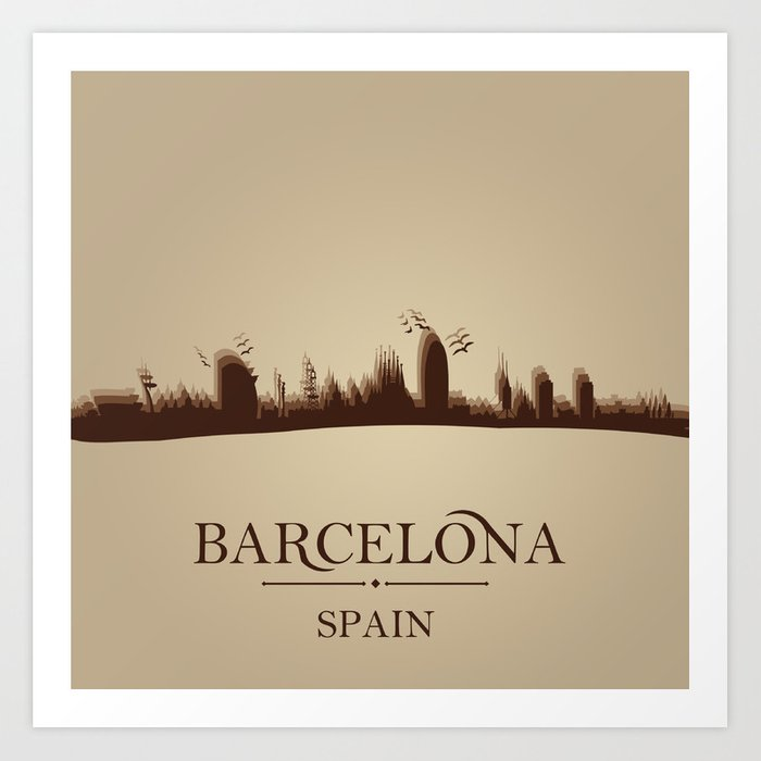 Barcelona Minimalist Design Art Print
