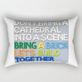 Bring A Brick Rectangular Pillow
