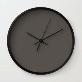 Root Brown Grey Solid Color Sherwin Williams 2021 Color of the Year Urbane Bronze SW 7048 Wall Clock
