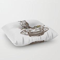 Rabbit in a Teacup Floor Pillow