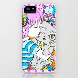 Anime girl Maneki Neko iPhone Case