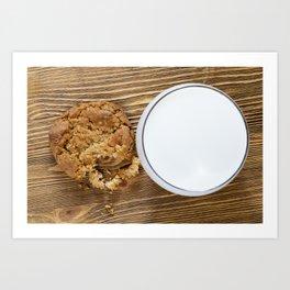 crispy crumbled wheat cookies Art Print