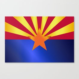 Arizona State Flag Gloss Canvas Print