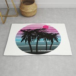 Palm Tree Sunset 1 Rug