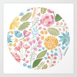 Such Pretty Summer Flowers Art Print