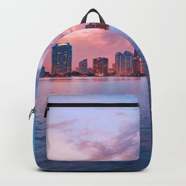 Sunset Over the City (Color) Backpack