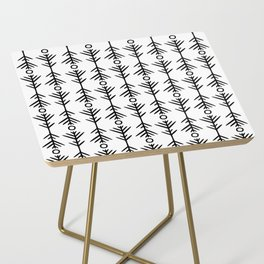 pattern study one - black & white Side Table