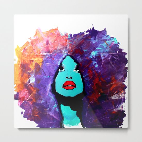 afro color Metal Print