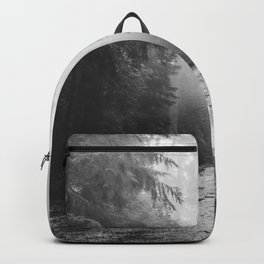 Redwood Forest Adventure Black and White - Nature Photography Backpack