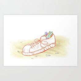Sneaker Blossoms Art Print