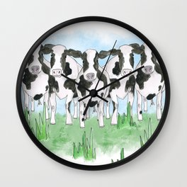 A Field of Cows Wall Clock