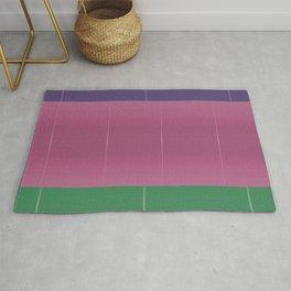 Purple Pink Green Bold Stripes Rug