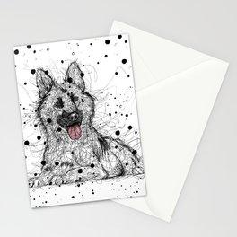 Scribble German Shepherd Stationery Cards
