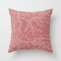 Ferning - Dusty Rose Throw Pillow