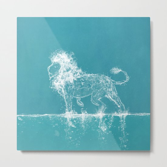 The Water Lion Metal Print