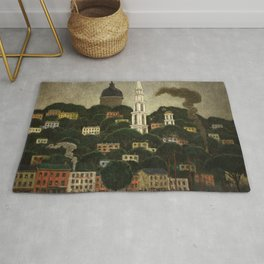 College Hill, Downcity Providence, Rhode Island by Edward Middleton Manigault Rug