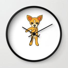 Floss Dance Move Chihuahua Wall Clock