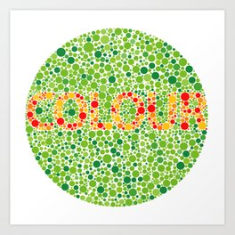 Colour Blindness Art Print