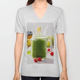 green fresh smoothie Unisex V-Neck