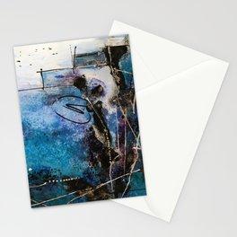 Midnight Sky, Acrylic artwork Stationery Cards