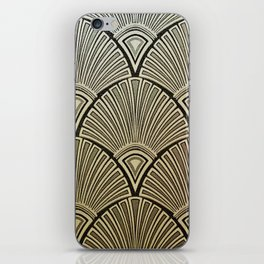 Golden Art Deco pattern iPhone Skin