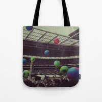coldplay Tote Bags featuring Coldplay at Wembley by Efua Boakye